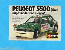 TOP986-PUBBLICITA'/ADVERTISING-1986- BURAGO - PEUGEOT 205 TURBO 16 RALLY  1:24