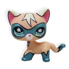 Super Rare Littlest Pet Shop COMIC CON CAT Hero kitten kitty Blue Eyes LPS QP