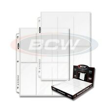 20 - 6 Pocket 2 1/2 x 5 1/2 Photo Page Sheet Protector BCW Pro6T 3 ring binders