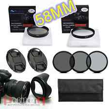58mm UV CPL Flower Hood Cap ND2 ND4 ND8 Filter Set FOR nikon canon sony olympus
