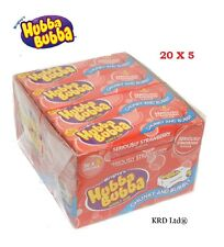 Hubba Bubba 20 Packs Of 5 STRAWBERRY Chewing Gum 100 x Party Birthday FULL BOX
