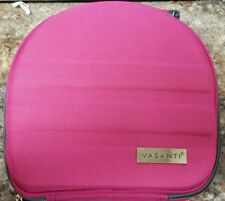 Vasanti PINK traveling vanity hard case bag 10x10