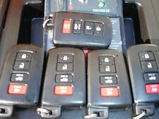 Lot of 5 Toyota Camry, Avalon keyless entry remotes, fobs, denso HYQ14FBA.