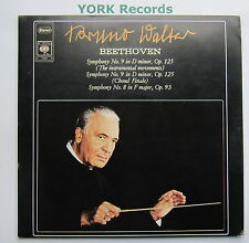 77222 - BEETHOVEN - Symphonies No 8 & 9 WALTER Columbia SO - Ex Double LP Record