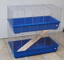 Guinea Pig Cage Rabbit Hutch Double Cage Cage 1 With Blue