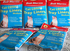 Bob martin Cat litter tray liners 6 Medium Anti Bacterial Hygienic Clean Clear