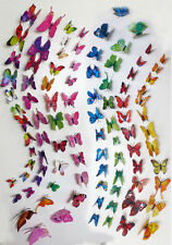 8 Sets of 96 Refrigerator Magnets Butterfly 3 D Wall Sticker