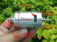 DC12V 14000rpm Long Axis Biaxial Motor Permanent Magnet High Speed  550 Motor