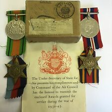 WW2 Burma Star Medal Group Air Force D W Gabriel Muswell Hill London Boxed