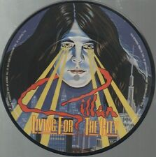 "GILLAN   DEEP PURPLE   Rare 1982 UK Only 7"" Picture Disc ""Living For The City"""