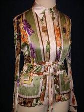 CARLISLE Floral Silk Crinkle Shirt  Blouse NWT - 8