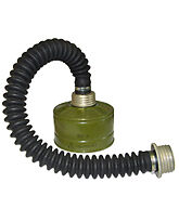 Russian Military Gas Mask Hose Tube Connector 40mm with filter GP-5/GP-7V/PPM-88