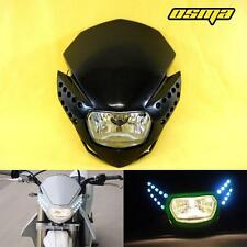 New LED Racing Motorcycle Headlight Fairing Streetfighter Enduro Cross Universal