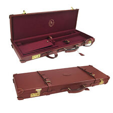 Tourbon Gun Hard Case Shotgun Box Vintage Safe Antique Cabinet Genuine Leather