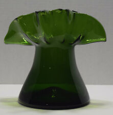 Vintage Mid Century Modern Bischoff #263 Lime Green 7 inch Fan Vase