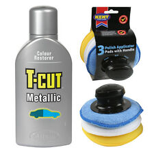T Cut METALLIC Car Polish Wax Restorer Scratch Remover 500ml Applicator Pad Set