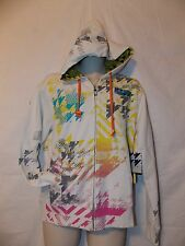 mens lord baltimore christian audigier fleece hoodie jacket M nwt beige