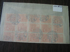 LITHUANIA  408  USED BLOCK OF 15