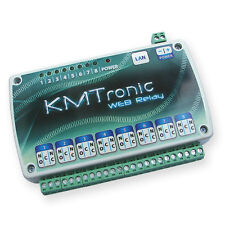 KMTronic LAN IP 8 Rele Controller Internet Ethernet WEB BOX