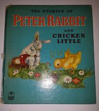 VINTAGE PETER RABBIT and CHICKEN LITTLE BOOK by BEATRIX  POTTER (1948 Hardback)
