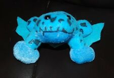 "Oriental Trading Co. Tree Frog Blue Black Spotted Plush Stuffed Animal 3"" Toy"