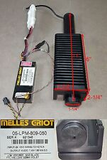"Melles Griot Red (11"" long) Laser w/ 05-LPM-809-050 Power Supply 24VDC"