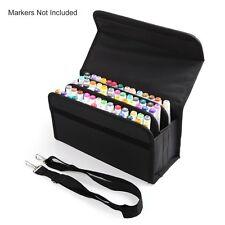 80 Slots Marker Pen Case Carrying Bag Holder Primascolor Marker and Copic Marker