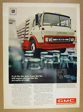 1969 GMC Bottle Delivery Truck photo vintage print Ad