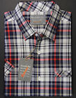 Alexander Hay Relaxed Mens Navy Red Check Casual Short Sleeve Cotton Shirt