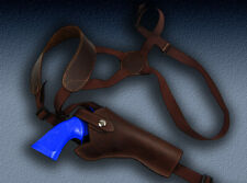Barsony Brown Leather Vertical Shoulder Holster for S&W 547 581 586 610 617 4""