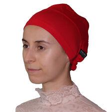 Aker Luxury Islamic Bonnet Hijab Underscarf Tie Back Red