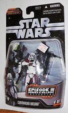Star Wars Episode 3 Heroes and Villains Collection Commander Bacara MOSC