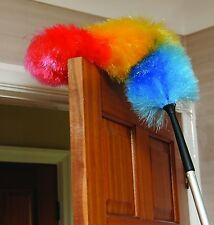 Telescopic High Reach House Cleaning Flexible Extension Static Feather Duster