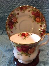 """NEW VINTAGE ROYAL ALBERT """"OLD COUNTRY ROSES"""" BONE CHINA CUP AND SAUCER"""