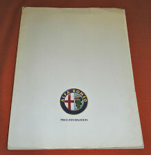 Alfa Romeo 164/Spider & Spider Veloce Press Kit