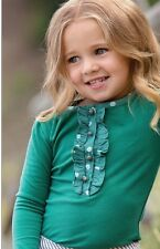 NWT Boutique Persnickety Fall Emerald Pine Green Charlie Top Size 2