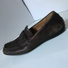 Born Womens US 8 8.5 Leather Loafers Brown EU 39 Flats