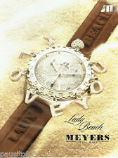 PUBLICITE ADVERTISING 026  2005  Meyers  montre Lady Beach