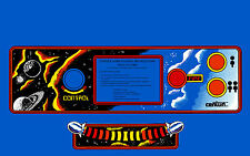 GYRUSS ARCADE CONTROL PANEL OVERLAY BLUE