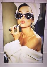 **SWAROVSKI CUSTOMISED AUDREY HEPBURN STYLE CANVAS **