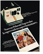PUBLICITE ADVERTISING 054 1981   POLAROID SUPERCOLOR  appareil photo