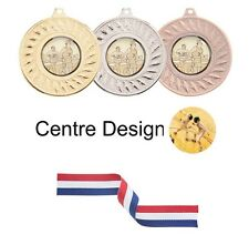 SPECIAL OFFER 10 x Fencing 45mm Metal Medals & Ribbon