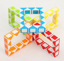 5PCS 24 Sections Small Puzzle Snake Magic Ruler Cube Jigsaw Kids Fancy Toys Gift