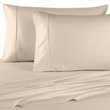 1200 Thread Count Egyptian Cotton PILLOW CASE Set Standard / Queen Ivory Solid