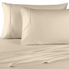1500 Thread Count Egyptian Cotton Bed Sheet Set 1500 TC SPLIT KING Ivory Solid