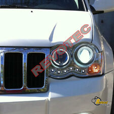 08 09 10 Jeep Grand Cherokee Dual CCFL Halo LED Projector Headlights Chrome