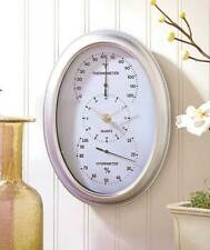 3 in 1 Hanging Wall Clock Hygrometer Thermometer Battery Operated Time Home