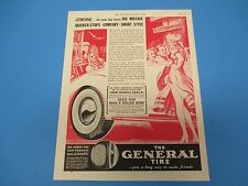 1938 The General Tire, The name that means Big Mileage, Comfort, Print Ad PA012