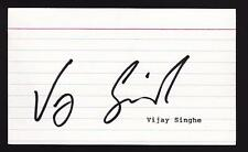 Vijay Singh Signed 3x5 Index Card Autographed 2000 Masters Champion