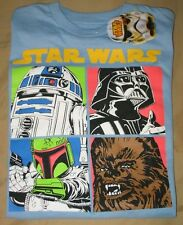 Star Wars Short Sleeve Blue Shirt - Youth/Boys Large/LG - Darth Vader/R2D2 - NEW